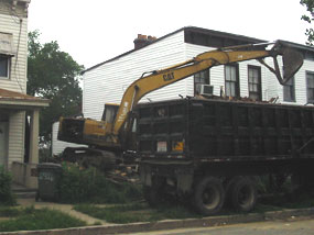 Demolition of 2316 R Street, Richmond, Virginia