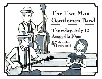 The Two Man Gentlemen Band @ Acappella Pub