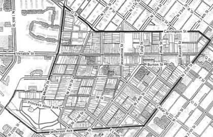 proposed Union Hill Old and Historic District map