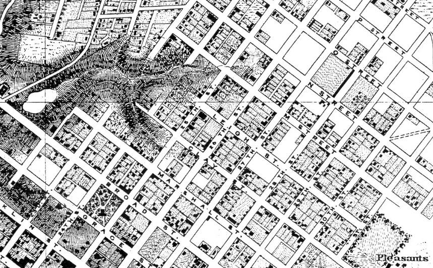 US Army Corps of Engineers map of Richmond 1867 Church Hill