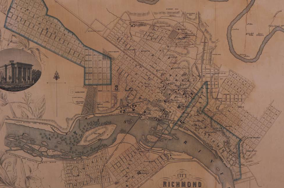 Four early maps of Henrico County and