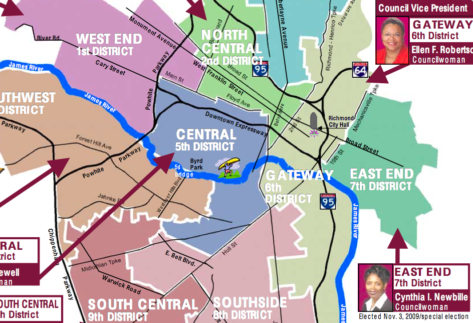 Richmond City Council District Map An early look at the 2012 local elections   CHPN