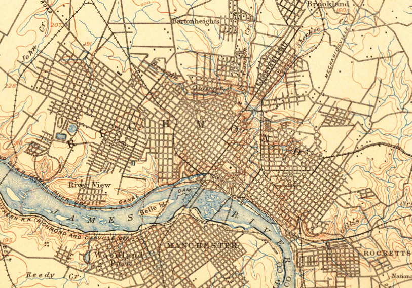 USGS topographic maps of Richmond - CHPN