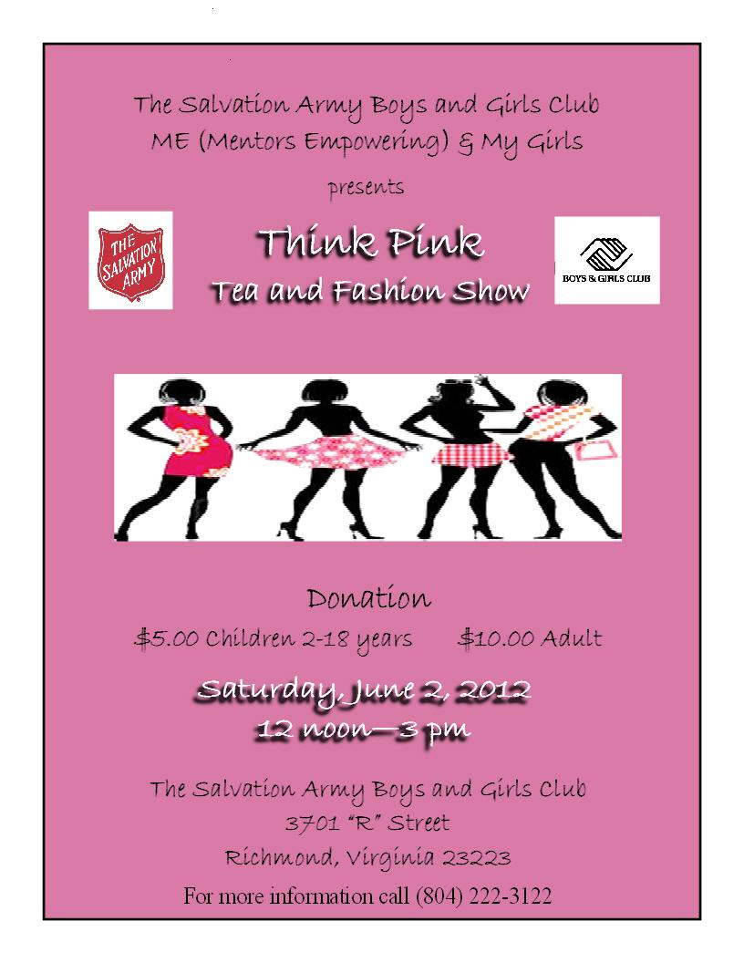 Think Pink Tea and Fashion Show - Church Hill People\'s News ...