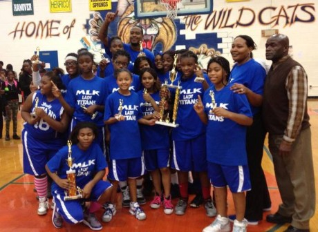 MLK Girls Basketball team 2013-2014