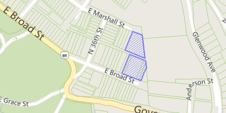 The 3600 blocks of East Marshall and East Broad Streets