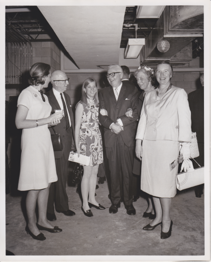 Morrill Crowe (Richmond Mayor 1964-1968)(3rd from  right), Virginia English (right)  / Dedication of the WRVA building (May 29, 1968)