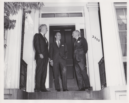 Bruce English, James Biddle, Philip Johnson / Dedication of the WRVA building (May 29, 1968)