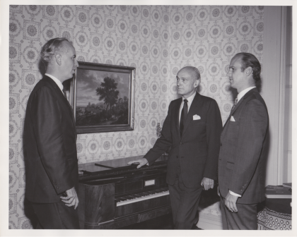 Bruce English, Philip Johnson,  James Biddle / Dedication of the WRVA building (May 29, 1968)