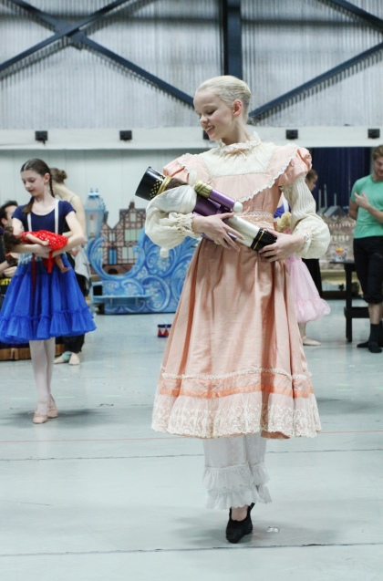 Ella rehearsing for The Nutcracker debut