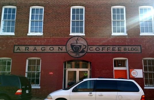 Aragon Coffee Roasters - 212 W. 6th Street Blue Bee Cider (April 2015)