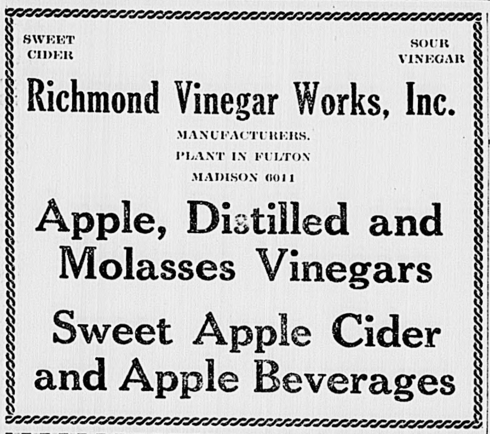 richmond vinegar works
