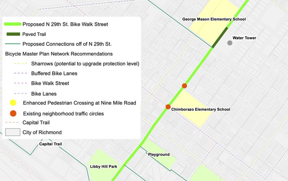 North 29th street bike-walk street