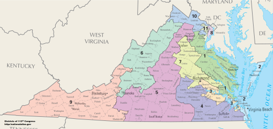 Virginia Congressional Districts (2013)