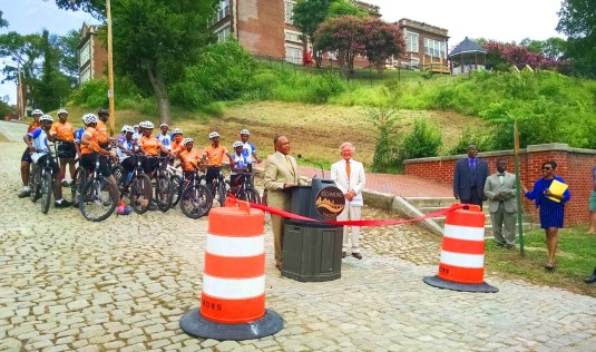 Richmond Cycling Corps members at today's 23rd Street hill dedication