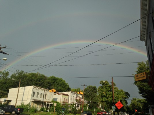 Double rainbow over Fairmount from Paul Granger