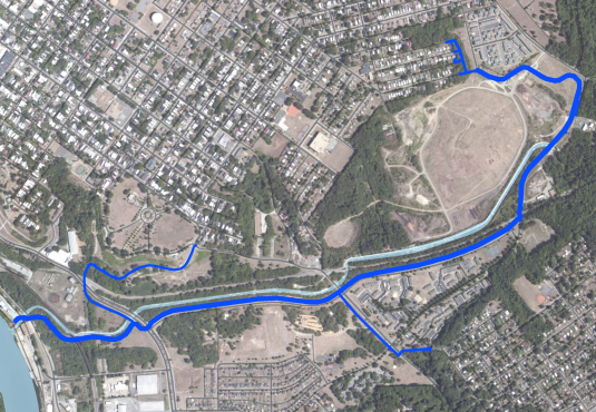 Proposed Gillie's Creek Greenway