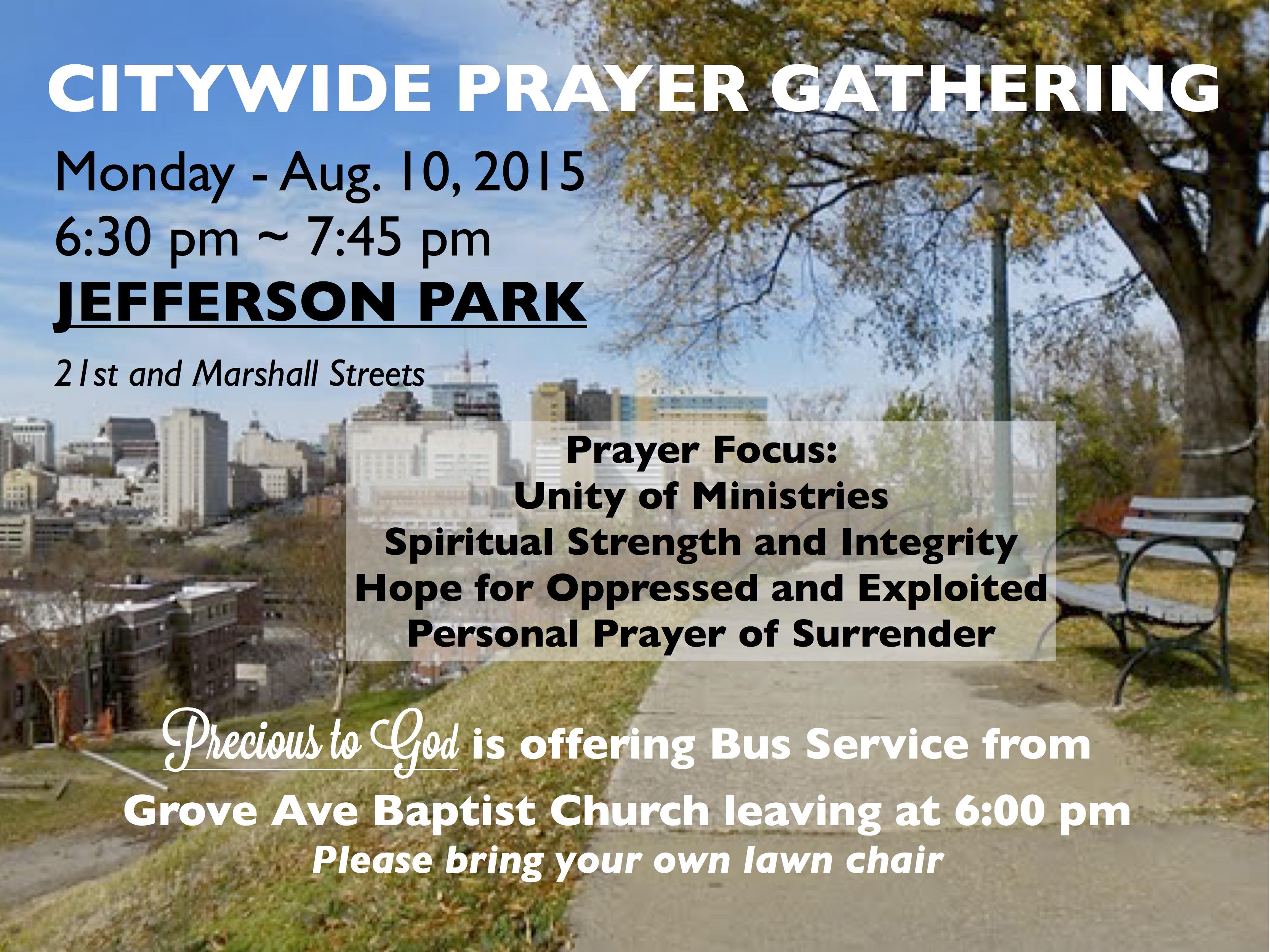 Jefferson Park Prayer Gathering