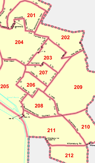 East End Census Tracts