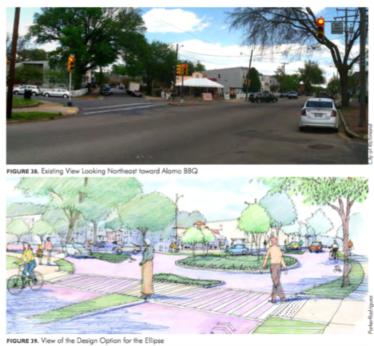 I can't help but notice now that the renderings don't include the street paint or signage