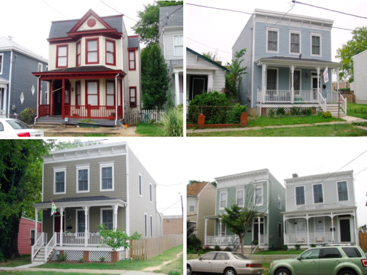 Early 2000s renovations or new houses in Fairmount