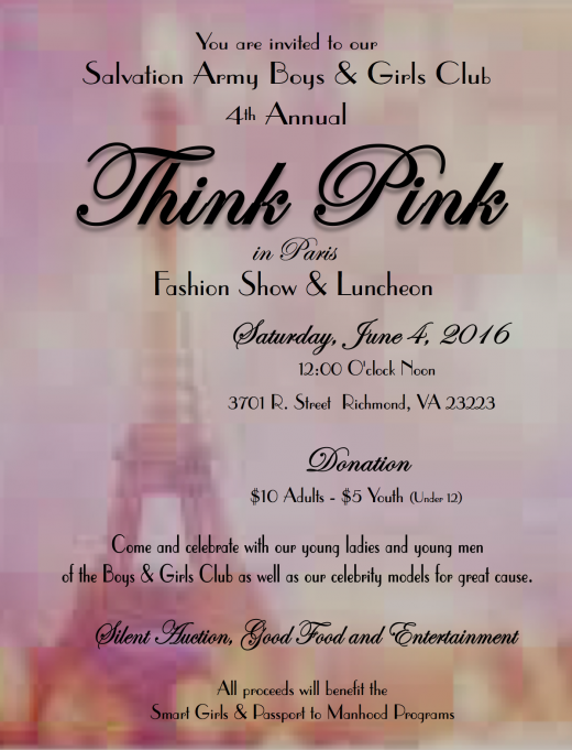 2016 Think Pink Flyer