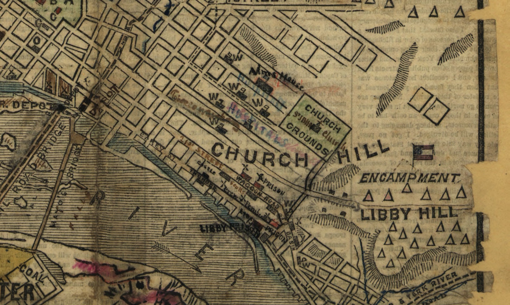 A large map of Church Hill Church Hill Peoples News Richmond