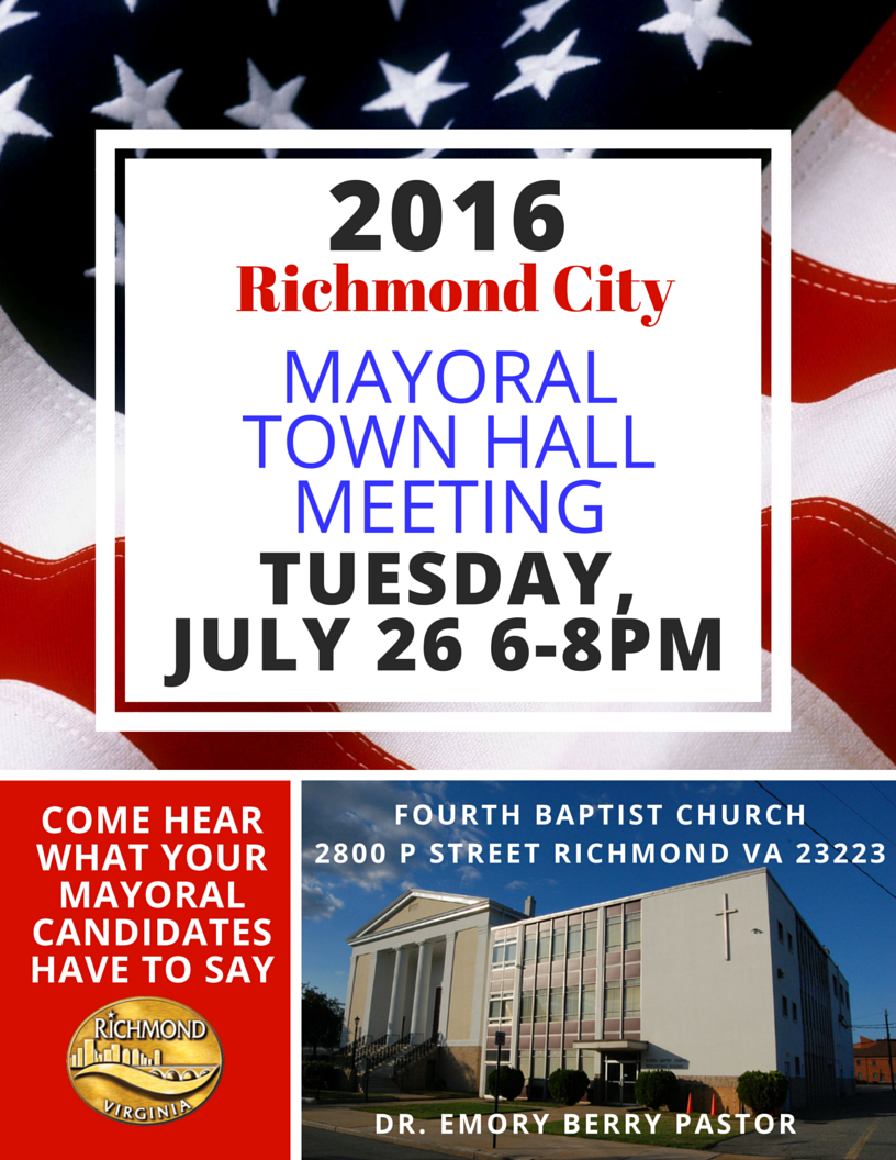 Mayoral Town Hall Meeting TONIGHT at ...