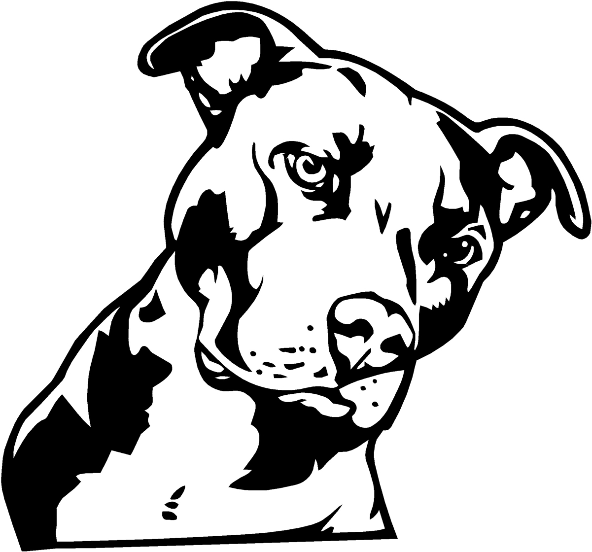 had issues with dogs on 23rd street  church hill people pitbull clipart black and white pit bull clip art black white