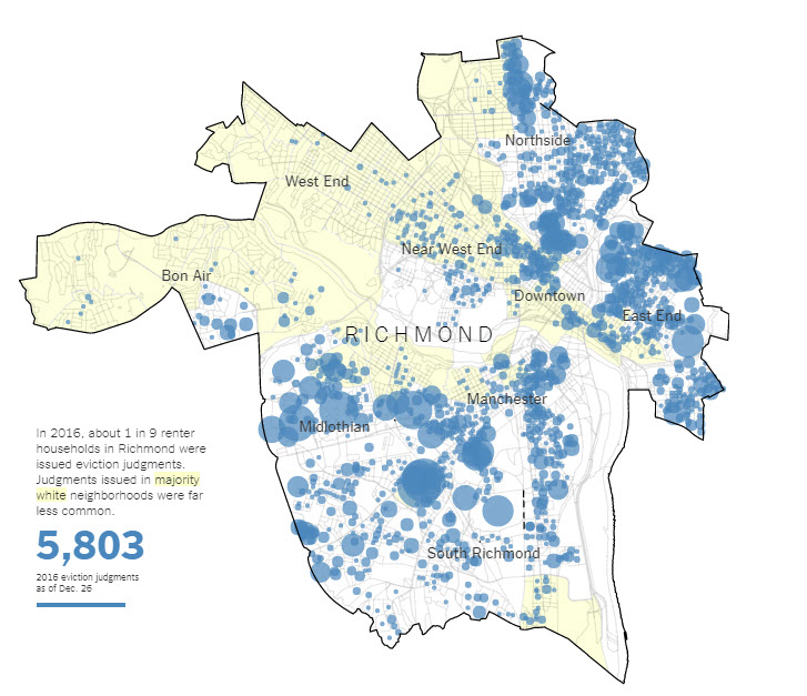 NYT: Eviction Rates in Richmond - Updated - CHPN